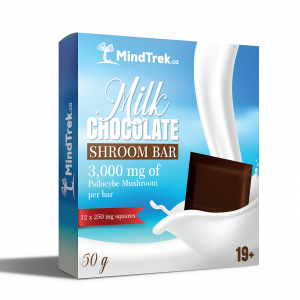 Milk Chocolate Shroom Bar 3000mg - Mindtrek.ca